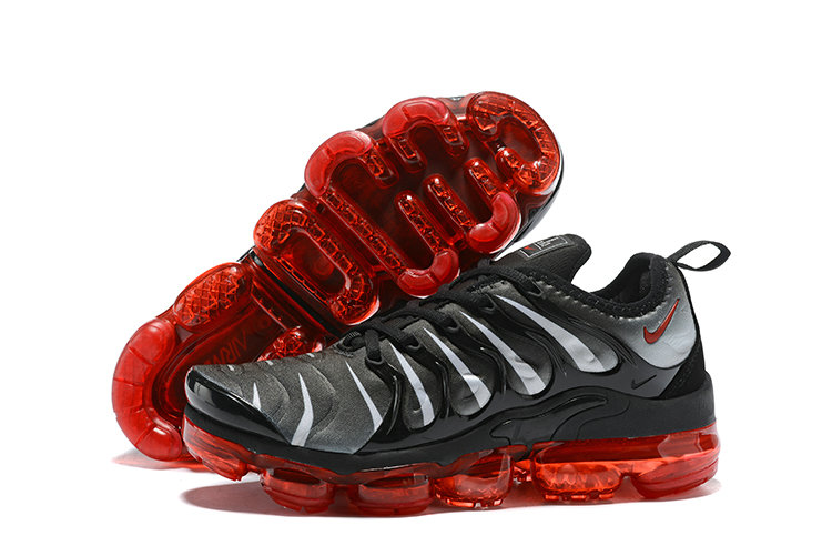 2018 Nike Air VaporMax Plus Purple Black Silver Fire Red Cheapest Wholesale Sale - www.wholesaleflyknit.com