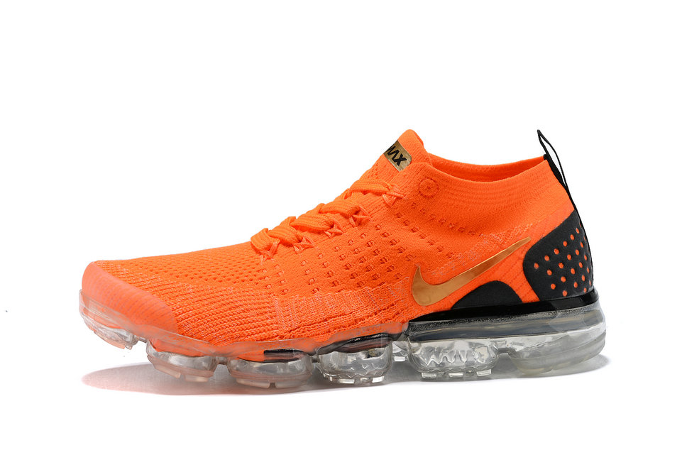 d5ebfa018f2f 2018 Nike Air VaporMax flyknit 2.0 SneakerBoots Orange Gold Black Cheapest  Wholesale Sale - www.
