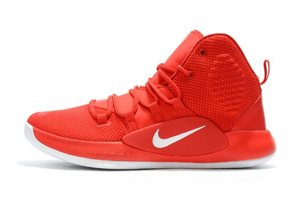 Cheap Wholesale 2018 Nike Hyperdunk X University Red White Mens Basketball Shoes - www.wholesaleflyknit.com