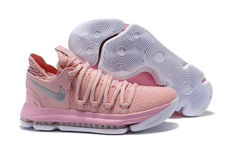 2018 Nike Kevin Durant x Cheap Nike KD 10 Aunt Pearl Pink Pearl White-Sail - www.wholesaleflyknit.com
