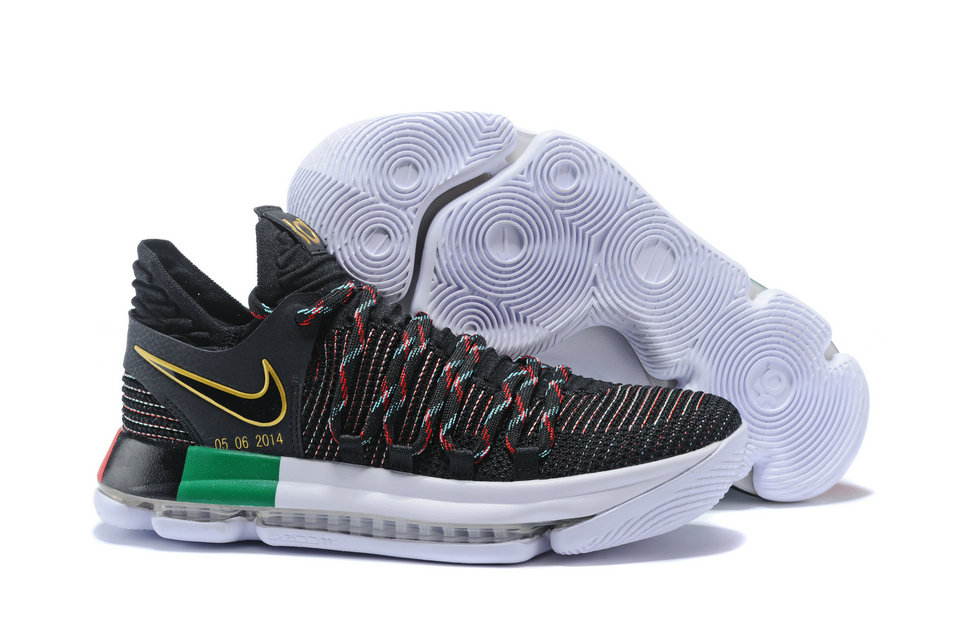 2018 Nike Kevin Durant x Cheap Nike KD 10 BHM Black Multi-Color - www.wholesaleflyknit.com
