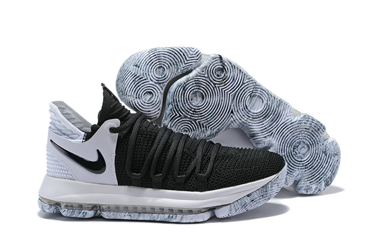 Calidad superior oficial diseño popular 2018 Nike Kevin Durant x Cheap Nike KD 10 Black And White ...