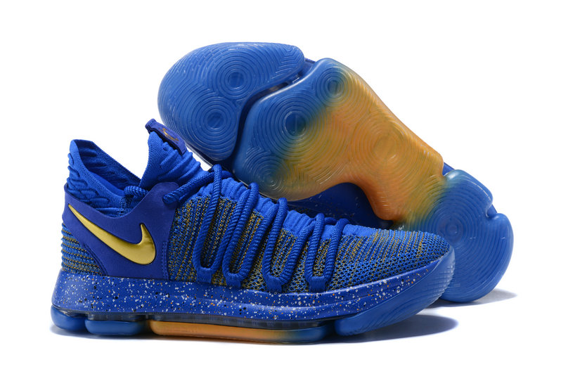 newest 489f4 afd86 2018 Nike Kevin Durant x Cheap Nike KD 10 Finals Racer Blue Metallic Gold -  www