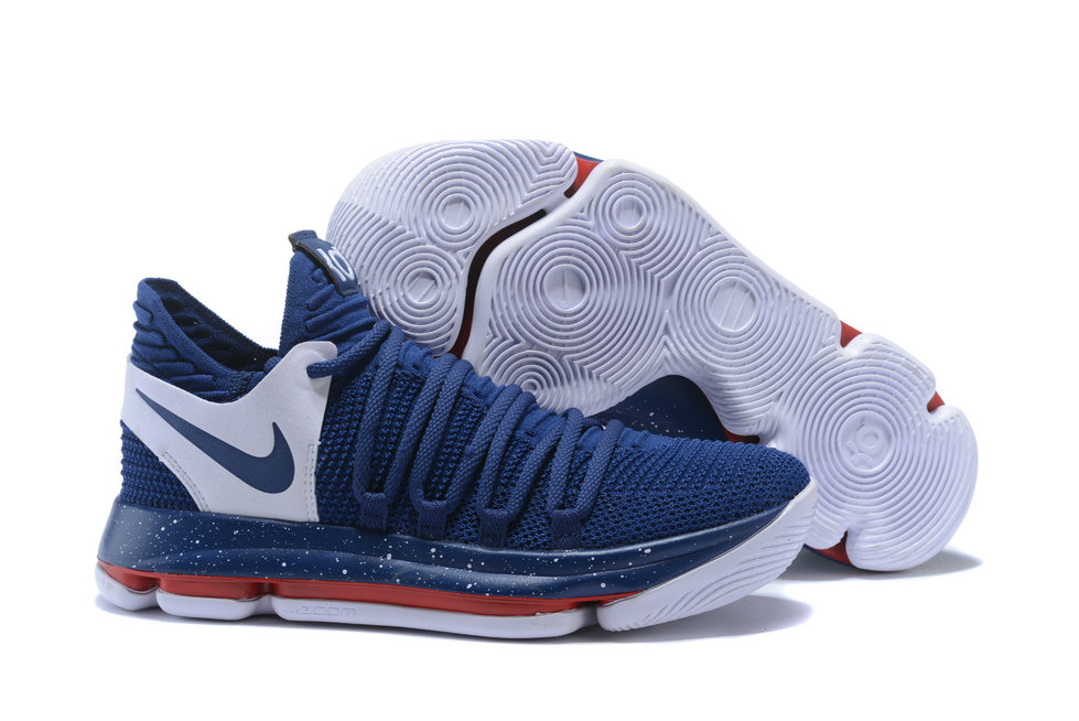 68b2e19a7393 2018 Nike Kevin Durant x Cheap Nike KD 10 Game Blue White -  www.wholesaleflyknit. Loading zoom
