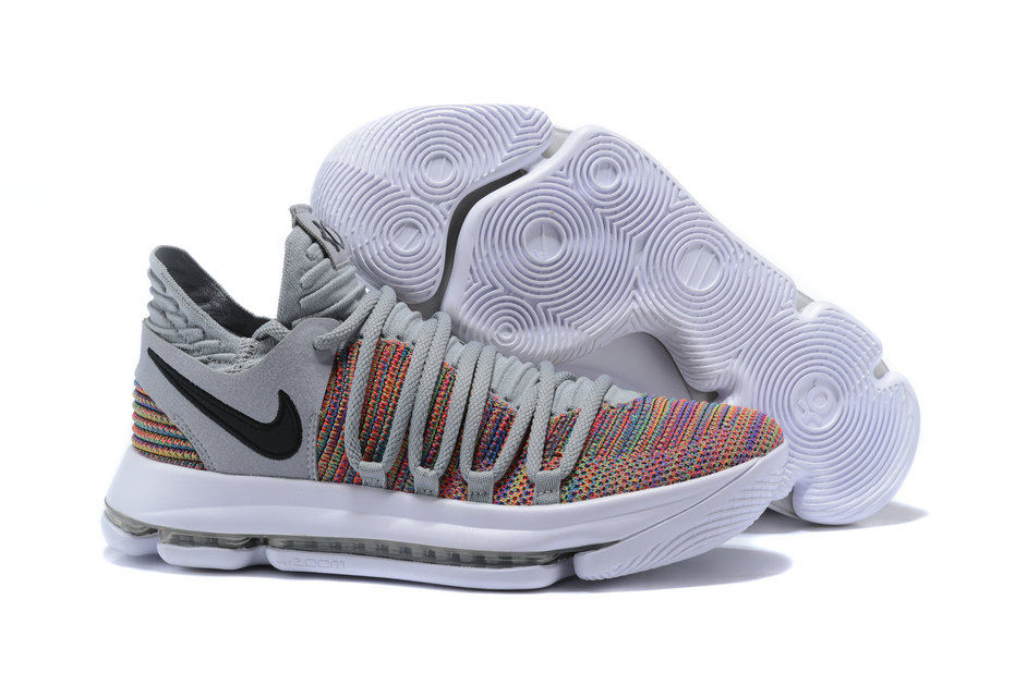 cheap for discount 5e533 70c98 2018 Nike Kevin Durant x Cheap Nike KD 10 Multi-Color Black-Cool Grey
