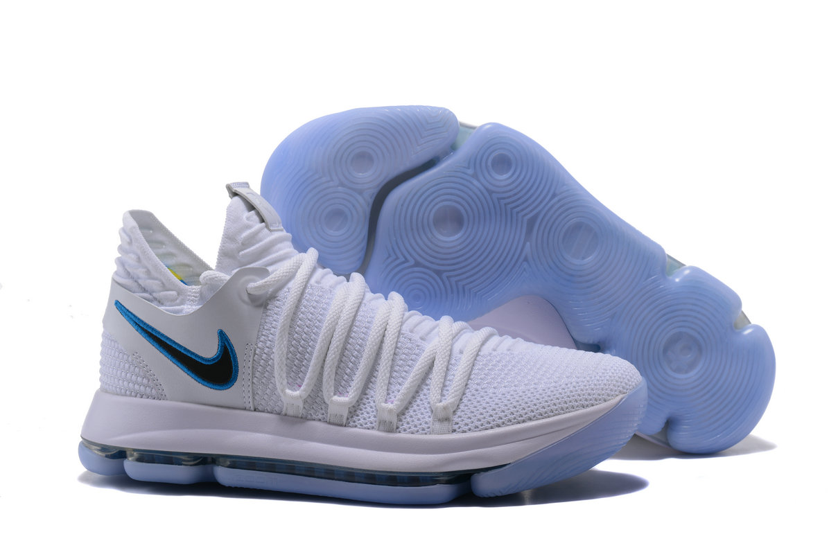 2018 Nike Kevin Durant x Cheap Nike KD 10 Numbers Game Royal-University Gold White - www.wholesaleflyknit.com