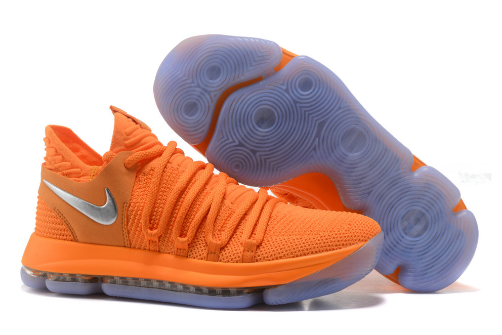bc36dbd33ad3 2018 Nike Kevin Durant x Cheap Nike KD 10 Orange Grey Silver -  www.wholesaleflyknit. Loading zoom