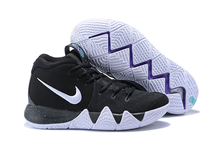 Wholesale Cheap 2018 Nike Kyrie 4 Black White-Anthracite-Light Racer Blue For Sale - www.wholesaleflyknit.com