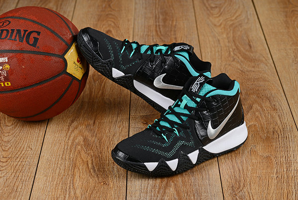 2018 Nike Kyrie Irvings 4 Aqua Black Silver Cheapest Wholesale Sale - www.wholesaleflyknit.com