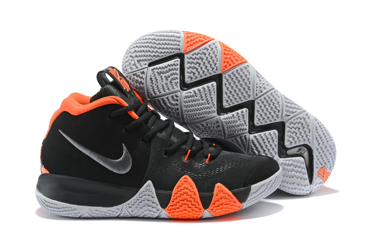2018 Nike Kyrie Irvings 4 Black Orange White Cheapest Wholesale Sale - www.wholesaleflyknit.com