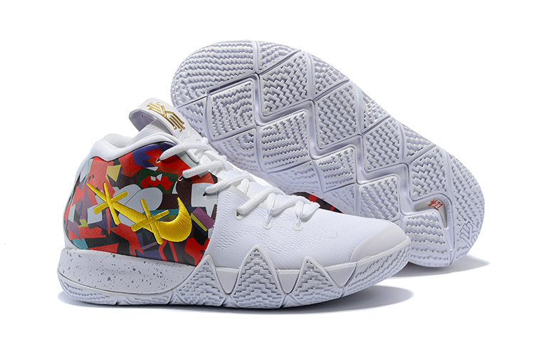 2018 Nike Kyrie Irvings 4 Yellow White Red Black Cheapest Wholesale Sale - www.wholesaleflyknit.com