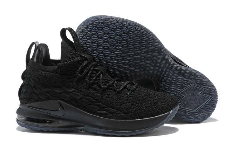 c7bf4d3a1cbc0 2018 Nike Lebron 15 Low Triple Black Cheapest Wholesale Sale -  www.wholesaleflyknit.com