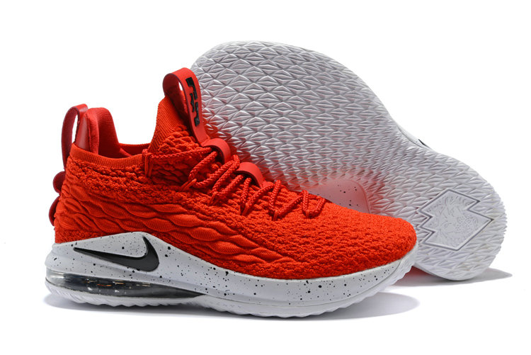 9a83f65b2069 2018 Nike Lebron 15 Low University Red White Black Cheapest Wholesale Sale  - www.wholesaleflyknit