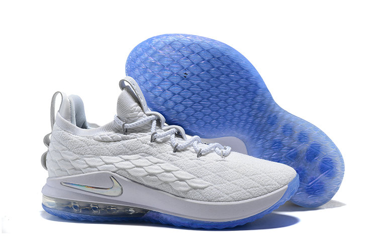 free shipping 7008d 7c269 2018 Nike Lebron 15 Low White Sky Blue Cheapest Wholesale ...