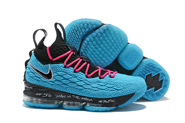 separation shoes e314d ad2fa Wholesale Cheap Lebrons Nike Lebron 15 Low Navy Blue Yellow ...