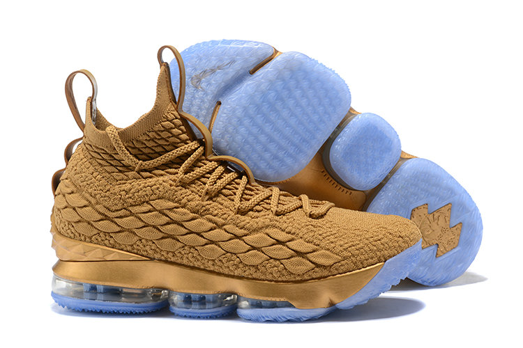 259725b46018b5 2018 Nike Lebron Shoes x Cheap Nike LeBron 15 Metallic Gold Dust Custom -  www.
