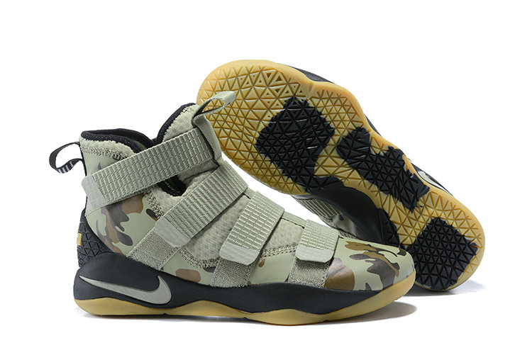 d359a2e1e36 2018 Nike Lebron Soldier 11 XI Gold Army Green Cheapest Wholesale Sale -  www.wholesaleflyknit