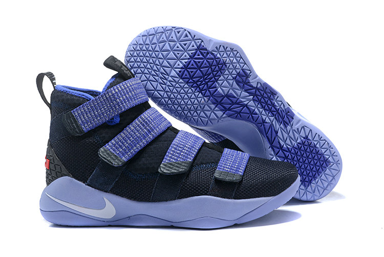 2018 Nike Lebron Soldier 11 XI Navy Blue Bright Cheapest Wholesale Sale - www.wholesaleflyknit.com