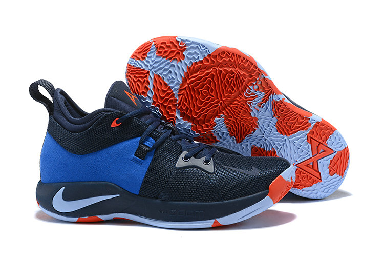 f41ecdc10d7 2018 Nike Paul George 2 x Cheap Nike PG 2 Navy Blue Orange - www ...