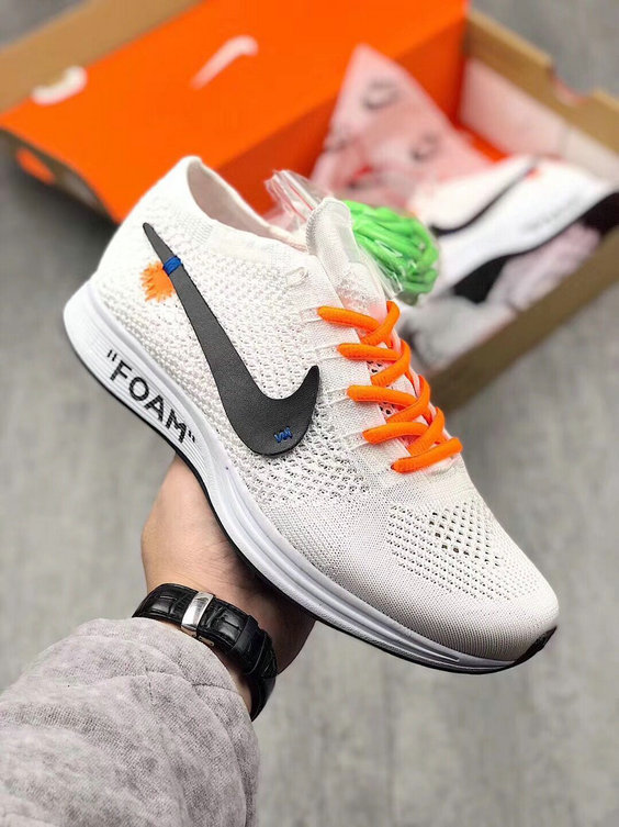 promo code a364e 66bce 2018 Nike The 10 OFF-WHITE Nike Flyknit Racer White Cheapest Wholesale Sale  - www