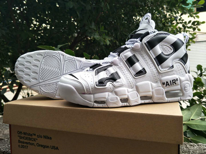 2018 Nike Air Uptempo x Cheap Nike Air More Uptempo x OFF WHITE Black White - www.wholesaleflyknit.com