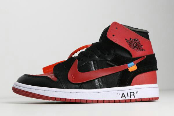 Cheap Wholesale 2018 Off-White x Air Jordan 1 Banned Black University Red-White To Buy - www.wholesaleflyknit.com