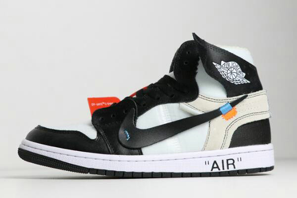 Cheap Wholesale 2018 Off-White x Nike Air Jordan 1 Black White AA3834-102 For Sale - www.wholesaleflyknit.com