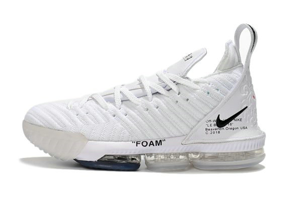 Cheap Wholesale 2018 Off-White x Nike LeBron 16 White Mens Basketball Shoes For Sale - www.wholesaleflyknit.com