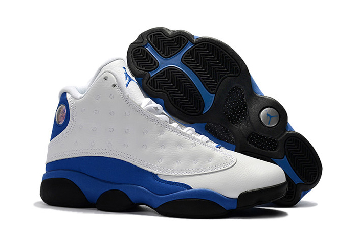 Wholesale Cheap 2018 Quentin Richardson Air Jordan 13 PE White Hyper Royal-Black For Sale - www.wholesaleflyknit.com