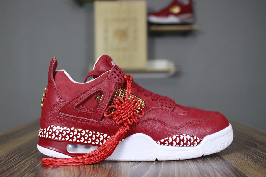 Wholesale Cheap 2018 Remade x 400ml Red Air Jordan 4 CNY Chinese New Year Custom For Sale - www.wholesaleflyknit.com