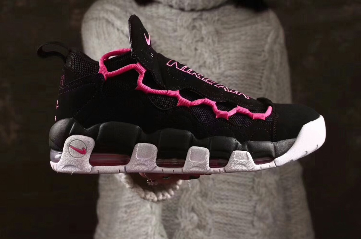 Wholesale Cheap 2018 Sneaker Room x Nike Air More Money QS Black Pink Fire  II For abbfa4356