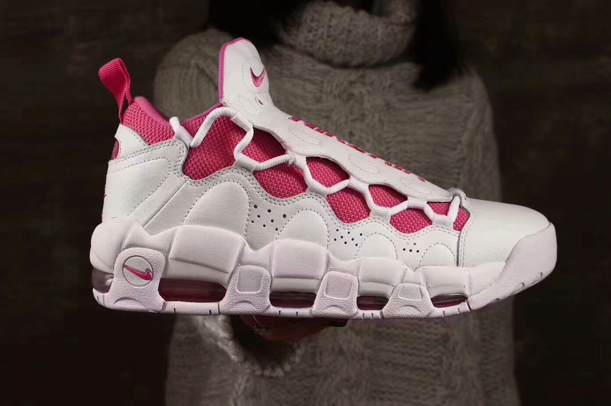 Wholesale Cheap 2018 Sneaker Room x Nike Air More Money QS White Pink Fire  II For f1655707c
