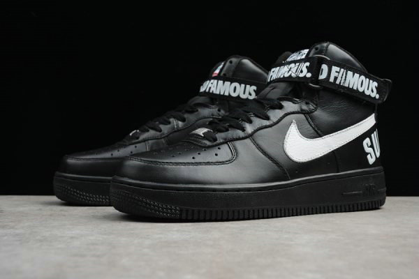 Cheap Wholesale 2018 Supreme x Nike Air Force 1 High Black For Sale - www.wholesaleflyknit.com