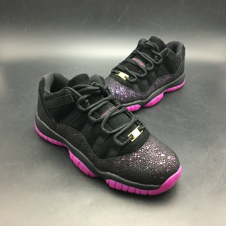 9e989dcd7281 2018 Womens Air Jordans Retro 11 Low Think 1 Black Purple -  www.wholesaleflyknit.