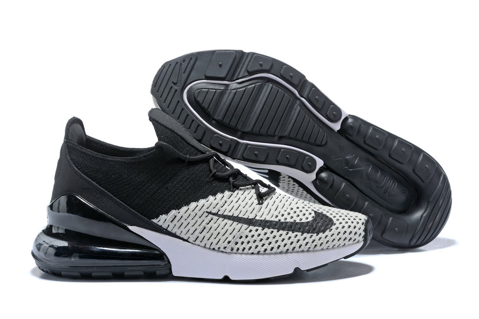 9fcb0815782 2018 Womens Nike Air Max 270 Flyknit Grey White Black Cheapest Wholesale  Sale - www. Loading zoom