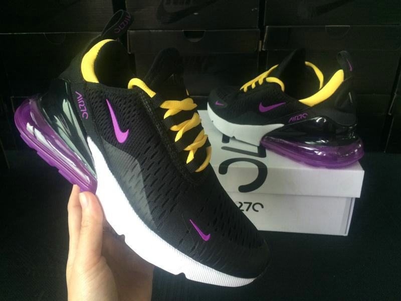 2018 Womens Nike Air Max 270 Purple White Black Yellow