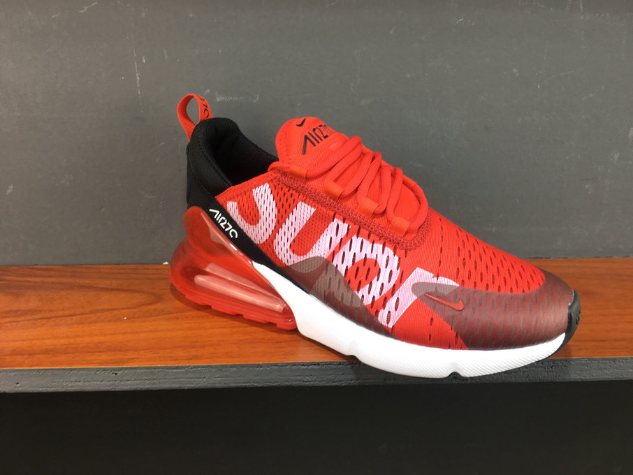 best authentic 458b8 fc9e7 2018 Womens Nike Air Max 270 Supreme White Red Black Cheapest Wholesale Sale  - www.