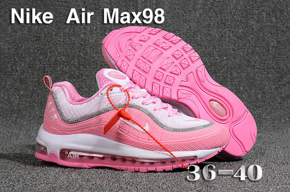 huge discount 9e0e3 3f256 2018 Womens Nike Air Max 98 Ultra Pink White Cheapest Wholesale Sale -  www.wholesaleflyknit