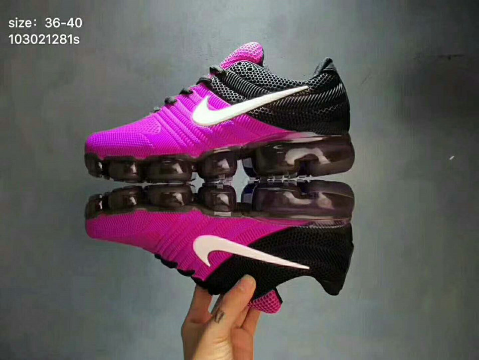 differently efb9e 4330b 2018 Womens Nike Air VaporMax 2017 KPU Purple Black White -  www.wholesaleflyknit.com