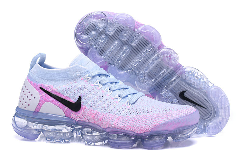 fb595282f7db 2018 Womens Nike Air VaporMax Flyknit 2.0 Purple Black White Grey - www .wholesaleflyknit.