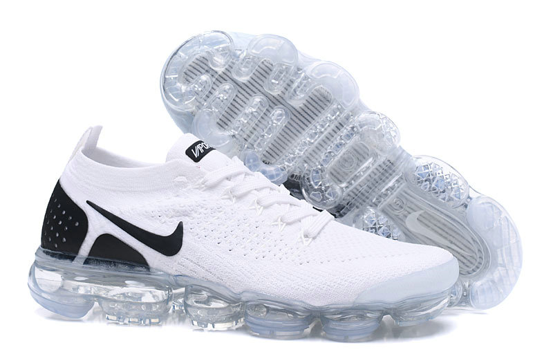 2af8daa91032c 2018 Womens Nike Air VaporMax Flyknit 2.0 White Black -  www.wholesaleflyknit.com