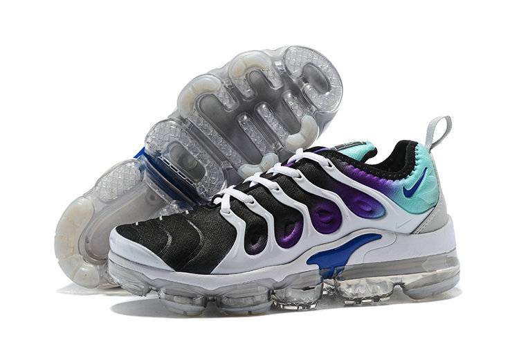 2018 Womens Nike Air VaporMax Plus Purple Black White Green - www.wholesaleflyknit.com
