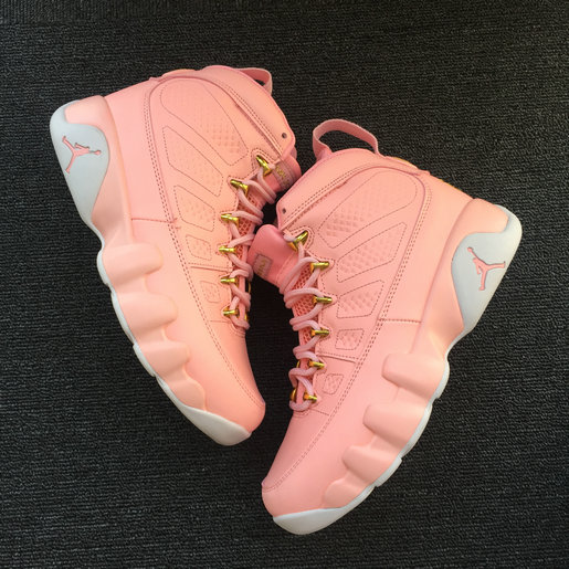 2018 Cheapest Wholesale Sale Nike Air Jordans 9 (IX) Retro Pink For Womens - www.wholesaleflyknit.com