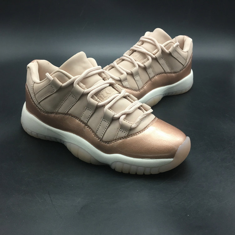 2018 Cheapest Wholesale Sale Nike Air Jordan 11 (XI) Cream Gold For Womens - www.wholesaleflyknit.com