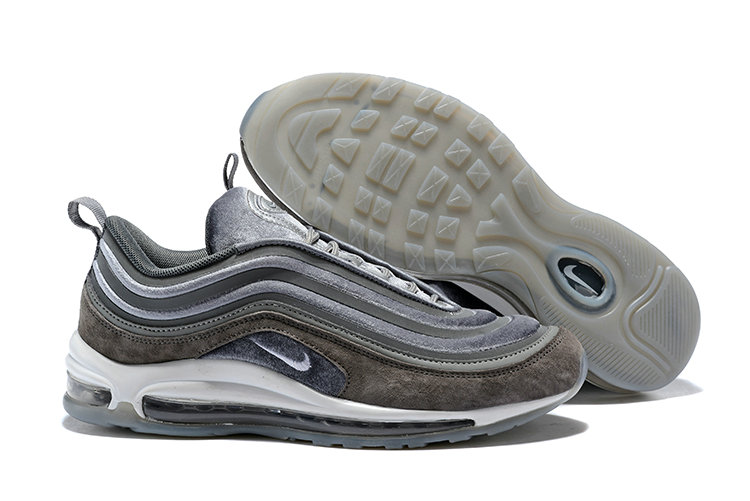 2018 Cheapest Wholesale Sale Nike Air Maxs 97 Mens Ultra 17 SE Suede Grey Brown White - www.wholesaleflyknit.com