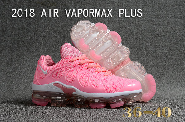 2018 Cheapest Wholesale Sale Nike Air VaporMax Plus Womens All Pink White - www.wholesaleflyknit.com