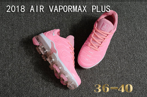 6acf403281b0 ... 2018 Cheapest Wholesale Sale Nike Air VaporMax Plus Womens All Pink  White - www.wholesaleflyknit
