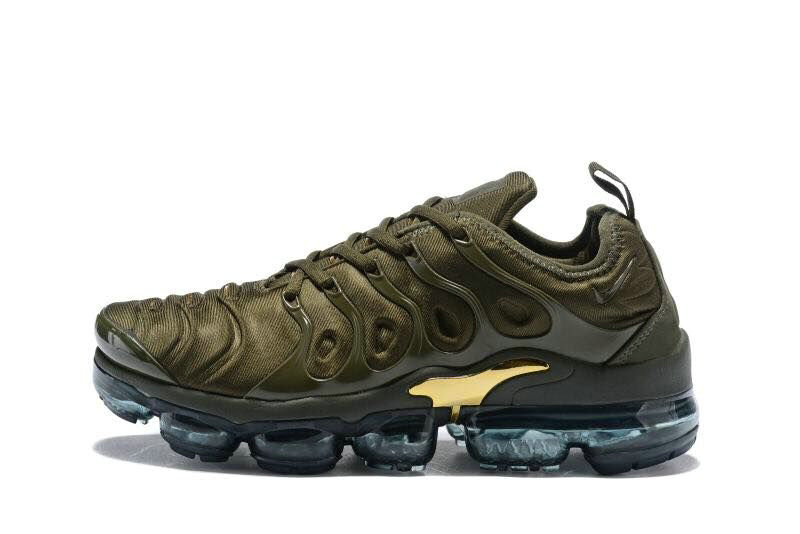 2018 Cheapest Wholesale Sale Nike Air VaporMax Plus Womens Gold Army Green - www.wholesaleflyknit.com