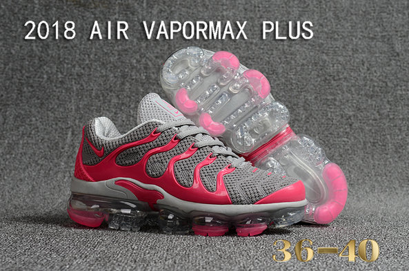 2018 Cheapest Wholesale Sale Nike Air VaporMax Plus Womens Pink Grey - www.wholesaleflyknit.com