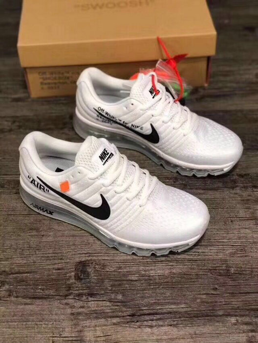 2018 Cheapest Wholesale Sale Nike OFF WHITE Air Max 2017 Mens Womens Triple White - www.wholesaleflyknit.com